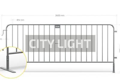 Barierki zabezpieczające CITY LIGHT