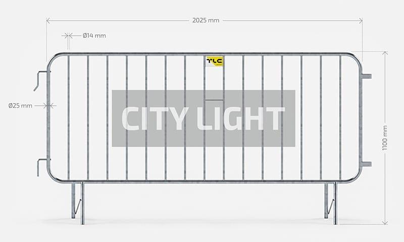 Barierki ochronne city light