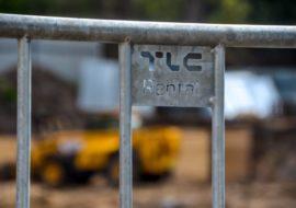 Zabezpieczenia na budowie TLC Rental - Kępa Mieszczańska