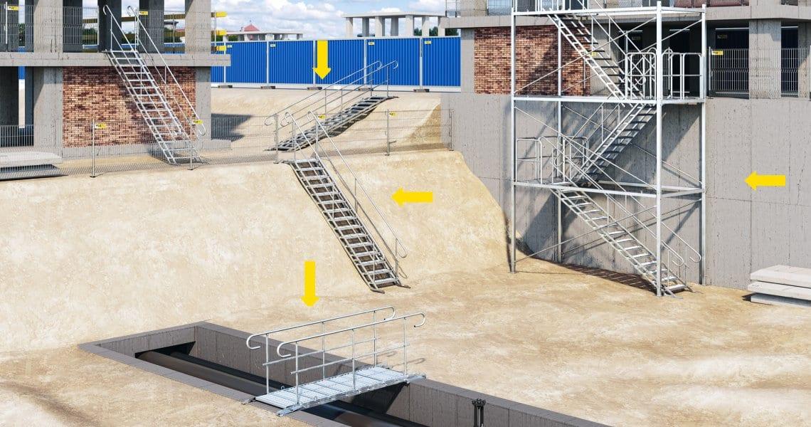 Zastosowanie schodów tymczasowych