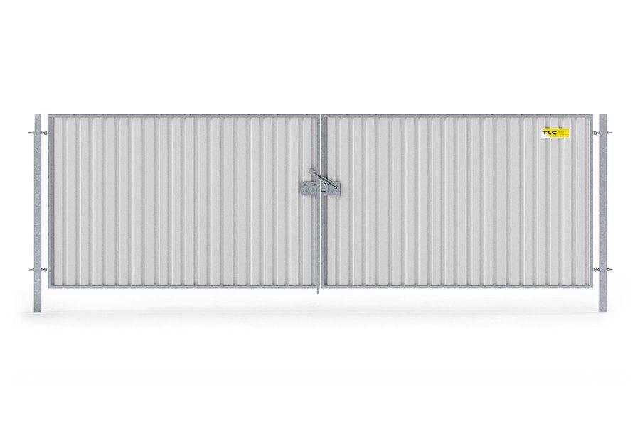 Zastosowanie dwóch paneli SMART pozwala stworzyć rozwieralną bramę tymczasową, która zapewnia szerokie światło wjazdu dla pojazdów
