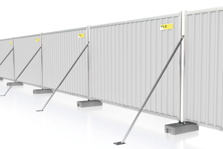 Podpory P-1 wykorzystywane są w celu zwiększenia stabilności ciągu ogrodzeń budowlanych dzięki utwierdzeniu podpory w gruncie.