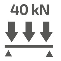 Allowed platform workload: 4000 kg