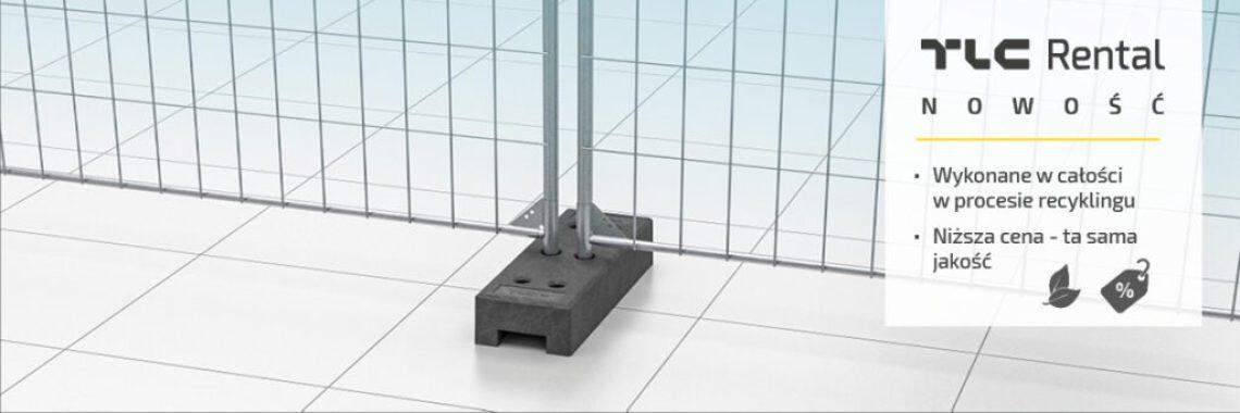 Stopa PCV ogrodzenia budowlane