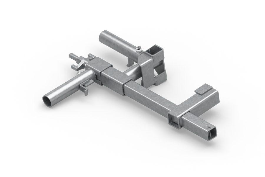 Umożliwia on montaż zabezpieczeń krawędzi na powierzchniach poziomych i pionowych – stropach, murkach, oraz na biegu schodów.