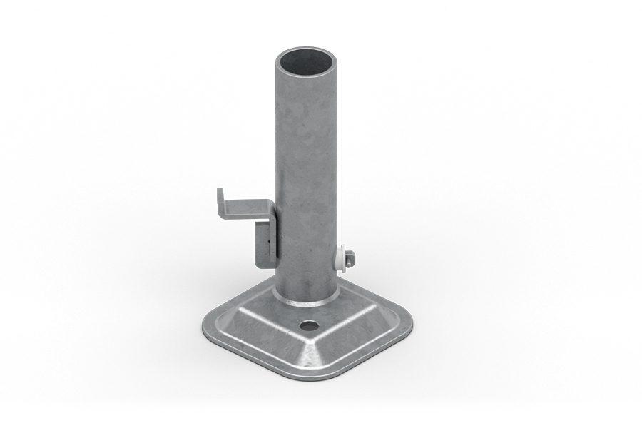 Zapewnia solidne i stabilne osadzenie zabezpieczenia krawędzi na poziomej powierzchni, np. stropach budynków.